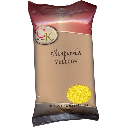 (CK Products 16 Ounce Bag of Non Pareil, Yellow )
