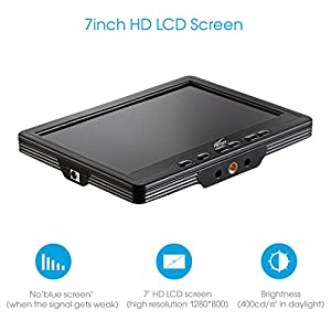 Camera Monitor Portable HD Display Monitor FPV Video Monitor Flysight Black Pearl RC801 (High End Version) 7 Inch Screen 1280 800 Lcd Monitor with Integrated Battery--By Flyisght