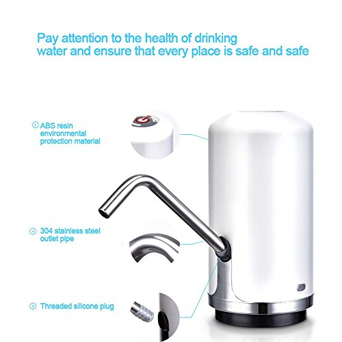 Layopo Electric Drinking Water Pump, USB Charging Universal Gallon Bottle Water Pump by Layopo (Image #2)