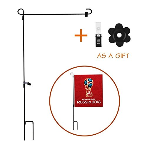 (Agyvvt Garden Flag Stand with Stopper and Anti-wind Clip for World Cup Flags, World Cup Flags,Birthday Flags etc. (Flag Not Inclueded)(36))