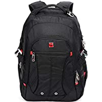 "SWISSWIN Swiss Backpack/Travel Backpack/School Backpack/Daily Backpack SW8110I Black 15.6"" Laptop"