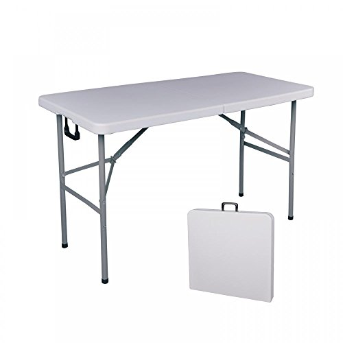 BestOffice Folding Table 4′ Portable Plastic Indoor Outdoor Picnic Party Dining Camp Tables For Sale