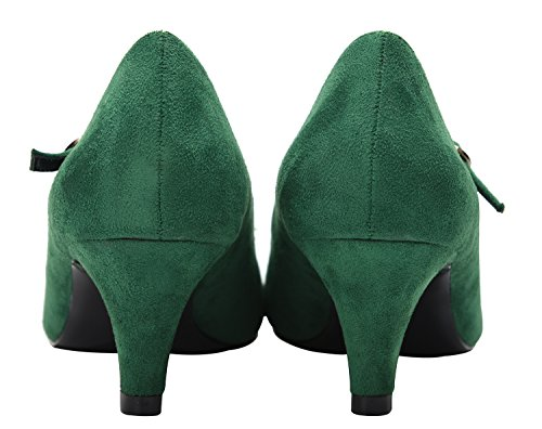 Tira de Tobillo Velveteen Mujer Green CAMSSOO AgFqcq