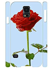 3D Print Treasure Design Vogue Red Rose Pattern Hard Plastic Phone Case for Samsung Galaxy S5 I9600