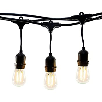 Amazoncom Outdoor String Lights with 15 E26 Sockets By Deneve