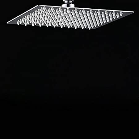 ETiME Ultraslim Einbauduschk/öpfe Edelstahl Quadratisch Duschkopf Rund Regendusche Spiegeleffekt Regenduschkopf Wasserfall 25cm 10 Zoll, Rund