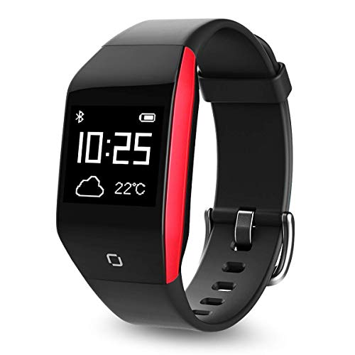 Coffea Fitness Tracker, Activity Tracker Watch with Heart Rate Monitor, 5 ATM IP68 Waterproof Smart Bracelet with Music Player, Pedometer Calorie Counter for Android and iOS Smartphones