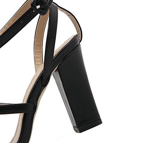 Sexy Sandalias Vendaje Zapatos YMFIE white de de Dama Europeo Ahuecado Moda Alto tacón Verano x0nxZwRT4q