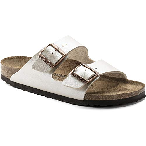 Birkenstock Womens Arizona Graceful Pearl White Birko-Flor Sandals 38 EU