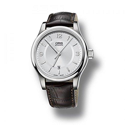 Oris - Reloj automático para hombre hombre piel Classic Date: Amazon.es: Relojes