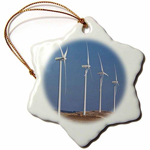 3dRose Spain, Vejer De La Frontera Area, Modern Windmills EU27 WBI1022 Walter Bibikow Snowflake Ornament, 3'' by 3dRose