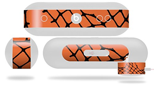 Ripped Fishnets Orange Decal Style Skin - fits Beats Pill Plus (BEATS PILL NOT INCLUDED) by WraptorSkinz