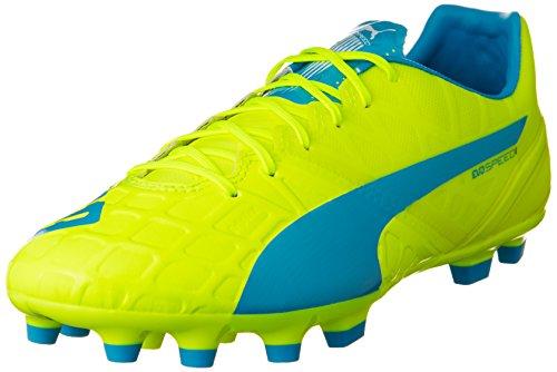 Puma evoSPEED 1.4 AG, Herren Fußballschuhe, Gelb (safety yellow-atomic blue-white 04), 43 EU (9 Herren UK)