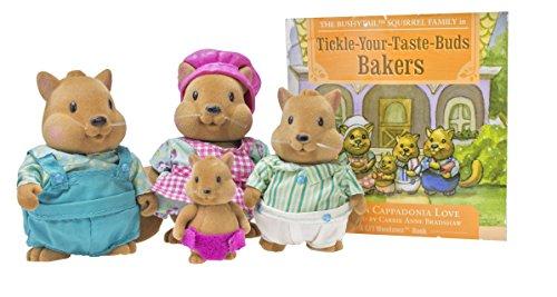 Li'l Woodzeez Bushytails Squirrel Family Set with Storybook