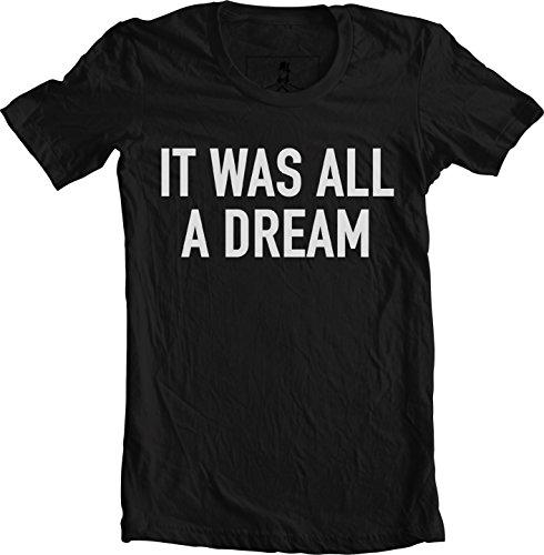 Xqste Notorious B.I.G Biggie Hip Hop Rap Lyrics Quotes Unisex T-Shirt (Large, All Dream Black) by Xqste