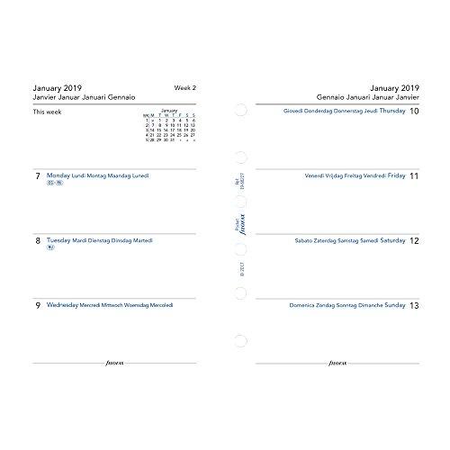Filofax 2019 Pocket Week to View Refill, Jan 2019- Dec 2019, 4.75 x 3.25 inches (C68227-19)