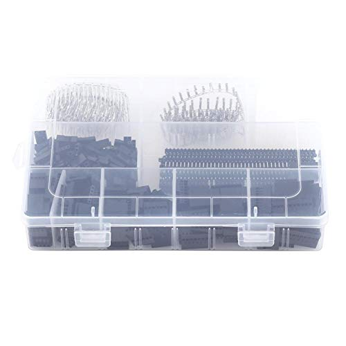 Wire Connector, 1450pcs 2.54mm Male Female Pin Connector and Housing Header Kit for Making Jump Wire: Amazon.co.uk: Business, Industry & Science