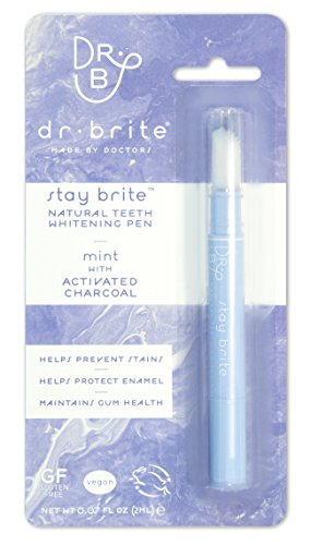 Dr. Brite Teeth Whitening Pen, Stay Brite with Mint Activated Charcoal, 0.07 Fluid Ounce by Dr. Brite
