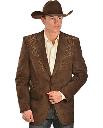 Circle S Men's Galveston Sport Coat Reg, Tall Chestnut 40 (Microsuede Blazer)