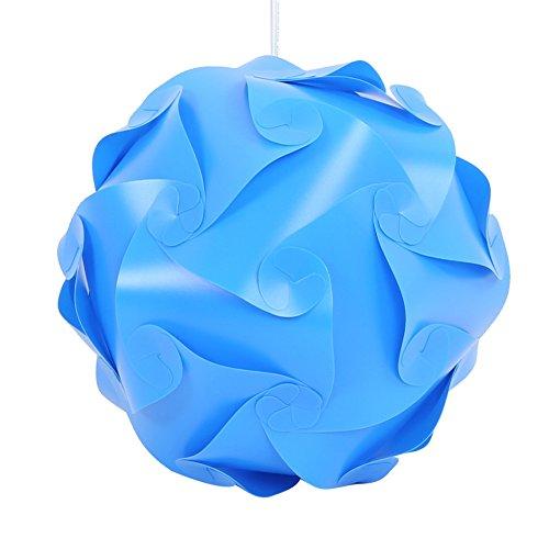 30X Elements Modern IQ Puzzle Jigsaw Light Lamp Shade Ceiling Lampshade DIY Hot (Dark Blue)