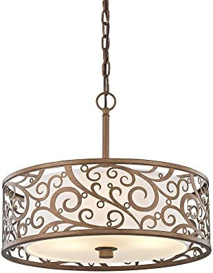 Fifth and Main HD-1073-I Carousel 3 Light 18″ Pendant