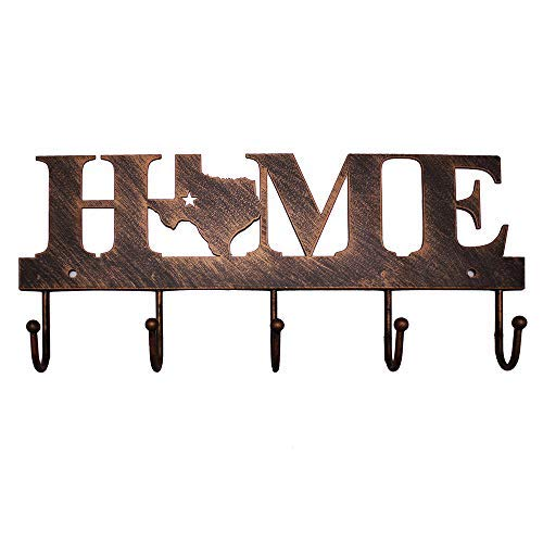 Texas Metal Key Holder Hooks Clothes Hanger Western Vintage Home Letters from WIPHANY