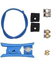 Khaco Kit de impressora 3D Tubo de mangueira PTFE Tubo de 40 cm para 1,75 mm Filamento com cortador de tubo PTFE 2pcs PC4-M6 Conexões pneumáticas 2pcs PC4-M10 Conexões pneumáticas Azul