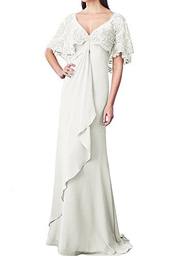 ivory mother of the bride plus size dresses - 6