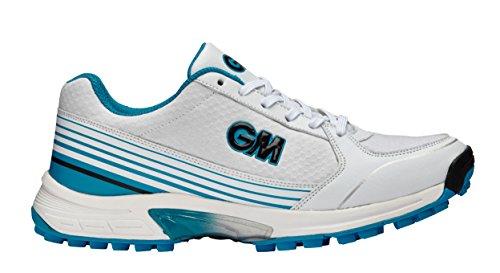 Scarpe Da Cricket Maestro All Rounder - Calzature Da Cricket Leggere - Gunn & Moore - Suola In Gomma Blu Bianca