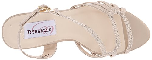 Dyeables, Inc Womens Caitlyn Dress Sandal Champagne Glitter