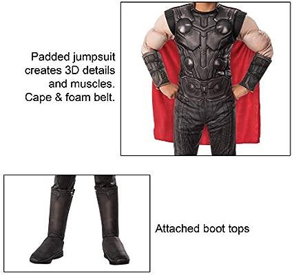 Rubies - Disfraz Oficial de Los Vengadores Endgame Thor, Talla Grande, Edad 8-10, Altura 147 cm