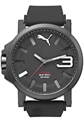 Puma Ultrasize 50 Bold Men's Water Resistant Watch - Black/White / One Size Fits All