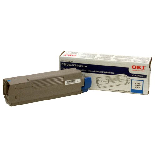 43324403 High Yield Toner (OKI 43324403 Cyan Toner for C5500N C5800LDN 5K Pages)