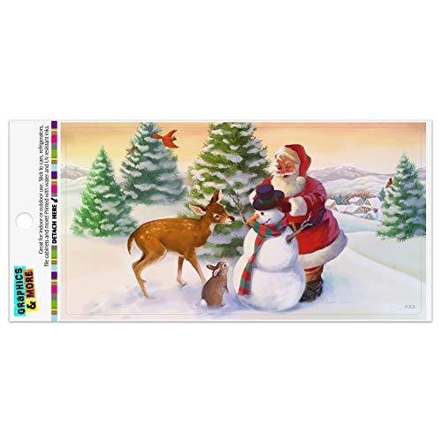 Christmas Holiday Santa and Animals Finishing Snowman Automotive Car Refrigerator Locker Vinyl Magnet