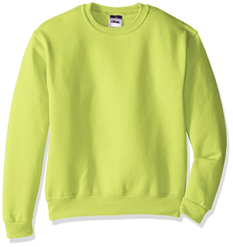 Price comparison product image Jerzees Youth Fleece Crew Sweatshirt, Safety Green, Small