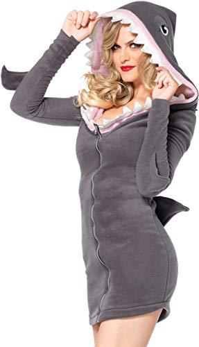 Leg Avenue Women's Cozy Shark Costume, Grey, X-Large -