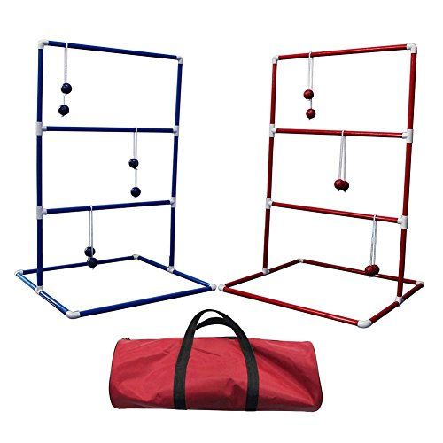 CRESTGOLF Ladder Toss Game with 6 Bolos and Durable Nylon Carrying Case by Crestgolf