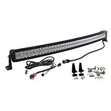 Curved 4D 240w 40 inch OZ-USA Light bar spot flood combo Phillips LED off road 4x4 4wd race truck