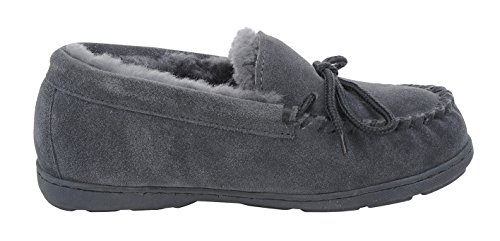 M Slipper 11 B BEARPAW Womens Charcoal US Mindy Moccasin qxFtY