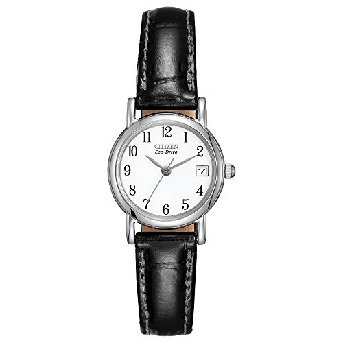 "Citizen Women's EW1270-06A ""Eco-Drive"" Stainless Steel and Black Leather Watch from Citizen"
