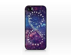 TIP5-121 Hakuna matata infinite, Black case, 2D printed, iphone 5 case, Hard Plastic (Fashion -1)