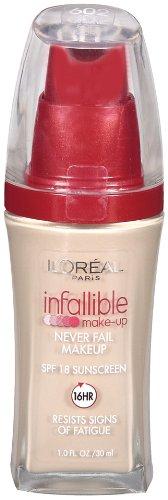 L'Oreal Paris Infallible Advanced Never Fail Makeup, Soft Ivory, 1.0 Ounces