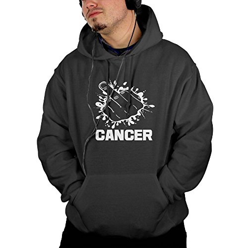 Fuck Cancer Men's Cool Long Sleeve Hoodie XXL
