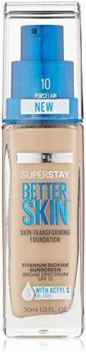 Maybelline New York Superstay Better Skin Foundation, Porclain, 1 Fluid Ounce