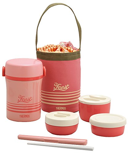 Thermos Stainless Lunch Jar Coral Pink Jbc-801 Cp ()