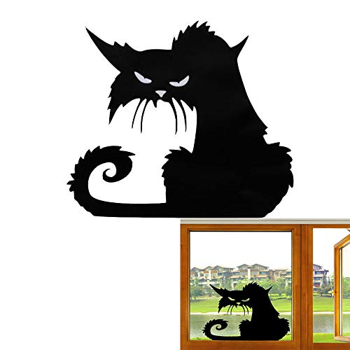 Unetox Halloween Wall Window Door Decor Sticker Cat Wall Stickers Halloween Party Removable DIY Decoration Home Room Door Window 2 PCS (Style -