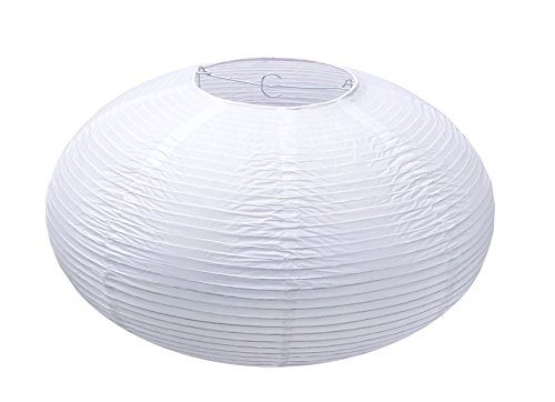 "URGREAT 16"" White Round Paper lantern,Pendant Lamp Shade,Hanging Paper Decorations"