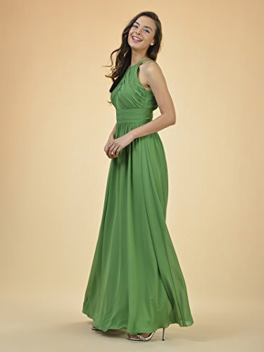 Dress Sleeveless Evening Dark Navy Alicepub Bridesmaid Chiffon Long Gown Dress Ball Pleated 0qfzPvqp8