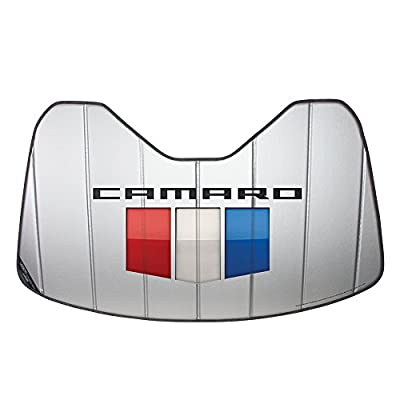 West Coast Camaro 2016-2018 6th Generation Camaro Shield Logo Accordion Style Windshield Sunshade