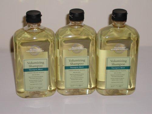 Bath & Body Works Aromatherapy Tranquil Mint Shampoo 18.5 Oz - Lot of 3